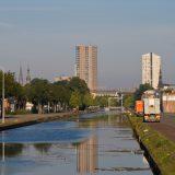 Eindhovensch kanaal met skyline