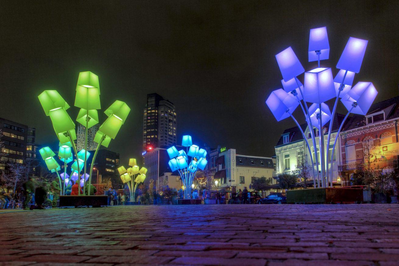 Wilhelminaplein tijdens Glow 2012