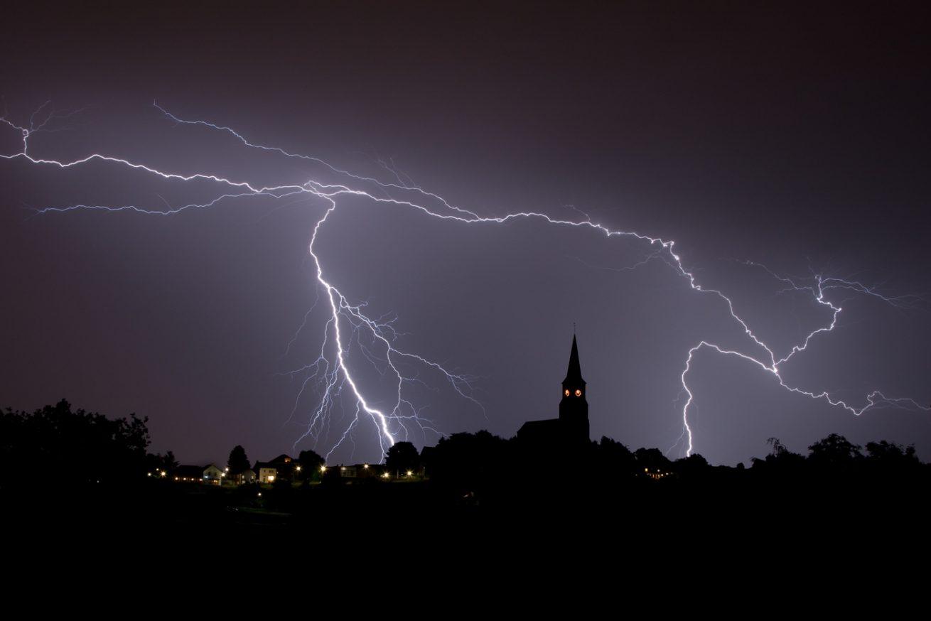 Vijlen tijdens onweersbui